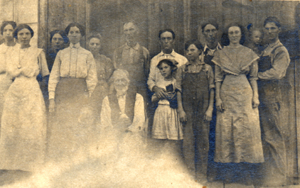 Francis Lafayette Simon with his family